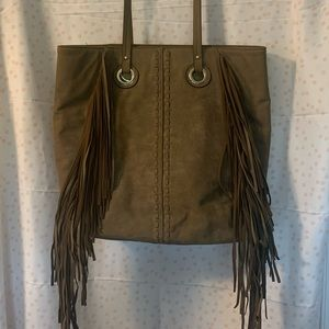 Missimo brown suede leather purse